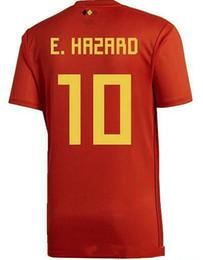 TOP QUALITY 2018 World Cup Belgium Home red Soccer jersey 17 18 away LUKAKU  E.HAZARD VERMAELEN NAINGGOLAN DE BRUYNE DEMBELE Football S-4XL e1bbeda61