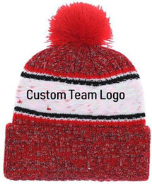 ff0d2da3749 2019 Custom Cardinals Team Logo Beanie Sideline Cold Weather Graphite  Official Revers Sport Knit Hat winter Knitted Wool Skull Cap