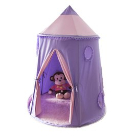 Wholesale Baby Play Tents - Teepee Tipi for kids purple pink Children Play house big Toy Kids Tents baby room Cartoon Indoor Outdoor Play Folding Tent