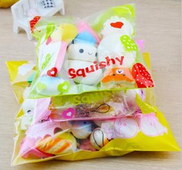 Wholesale fruit packs - 20pcs pack Squishies Slow Rising Squishy random sweetmeats ice cream cake bread Strawberry Bread Charm Phone Straps Soft Fruit Kids Toys