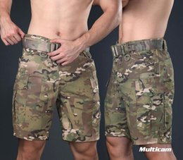 Коричневые шорты онлайн-Warchief Multicam Black Tropic  Tactical Shorts Camouflage Cargo Pants Men Coyote Brown Wolf Grey(STG051132)