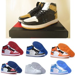 Wholesale body shadow - High quality OG Game Royal Banned Shadow Bred Toe Basketball Shoes 1 Men 1s Shattered Backboard Silver Medal Sneakers High Quality With Box