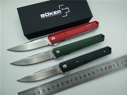 Wholesale Camp Knives - BOKER Kwaiken Ball Bearing Flipper Folding Knife G10 Handle VG10 Steel Outdoor Camping Survival Knives EDC Pocket Knife
