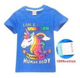 dhl envío gratis ropa de bebé Rebajas Unicornio Baby Girls Summer T Shirt Chica 6 Estilos Cotton Unicorn Cartoon T-Shirts Camisetas para niños Tops Ropa para Niños DHL Free Shipping