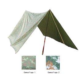 Wholesale 3m Mm - 3 * 3m Camouflage Camping Tents Waterproof Camping Mat Awning Mattress Sun Shelter Outdoor Windproof Beach Mat Sunshade Tent