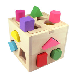 toddler learn Promo Codes - Bricks Toys Kids Baby Educational Toys Wooden Building Block Toddler Toys for Boys Girls Learning Educational Toy Tool