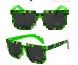 дети очки новые очки 8 бит пиксель женщины мужчины солнцезащитные очки женский мужской мозаика солнцезащитные очки дети мальчики девочки старинные 30 шт. от