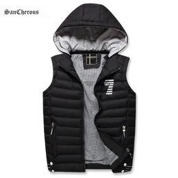 Wholesale Men Vest Jacket Hood - 2017 New Autumn Winter Casual Men Vest Hood Detachable Waistcoats Men Warm Comfortable Sleeveless Jacket Size M-3XL