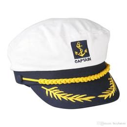 Vente en gros- DSGS 2016 Hot Style Sailor Ship Boat Captain Hat Marine Marins Admiral Casquette Réglable Blanc ? partir de fabricateur