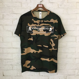 Wholesale green camouflage shirt - 2018 Summer Mastermind T-Shirt Skull Skeleton Camouflage MMJ Mastermind T shirts Japan Hiphop Camouflage Mastermind Top Tees