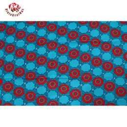 Wholesale Ankara Dresses - 2018 Ankara 100% Polyester Wax Prints Fabric Super Hollandais Wax High Quality 6 yards African Fabric for Party Dress PL674