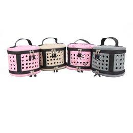 Jaulas de ratas online-Creativo plegable pequeña pequeña bolsa de transporte bolsas de viaje cálido hogar pequeños conejos Ratas portadores Mini animal cerdo hámster bolsa de transporte de mascotas 15yb a