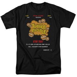 Star Trek Tribble Trouble Classic Arcade Game Nueva camiseta para adultos con licencia de CBS desde fabricantes