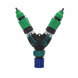 "Комплектный клапан онлайн-1set Water Kits of 3/4""American Standard Male Thread Valve Switch with 4/7mm 8/11mm Hose Coupling Adapter Garden Irrigation tool"