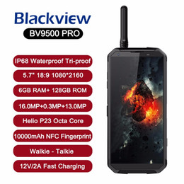 Canada Officiel original Blackview BV9500 Pro smartphone 10000mAh batterie IP68 Étanche 6GB 128GB Android 8.1 charge sans fil Talkie-walkie Offre