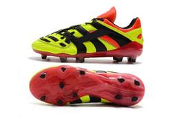 david beckham homens Desconto 2018 original Predator Accelerator Eletricidade DB sapatos de futebol mens David Beckham chuteiras de futebol para homens de couro fg botas de futebol