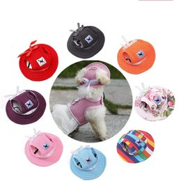 Wholesale kawaii hats - Various Styles Pets Ventilation Net Cloth Princess Hat Outdoor Dog Sunscreen Sun Cap Kawaii Pet Hats 14 5ww2 X