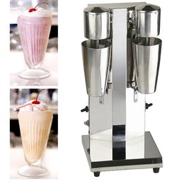 Wholesale Commercial Milk - 2018 commercial low price mini electric stainless steel double head milk shake making machine for sale