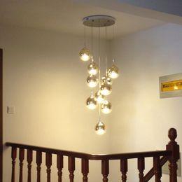 kristall-kronleuchter 12 arm Rabatt 10 led lampen treppe gold lange pendelleuchte wohnzimmer esszimmer moderne hängeleuchte villa glas magic ball pendelleuchten