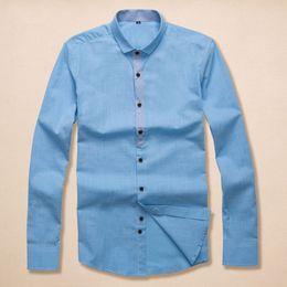 Wholesale Organic Cotton Business Shirts - 2018 Summer long-sleeve Autumn spring Dress shirt Men's casual POLO small horse fashion social business long sleeve