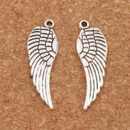 Wholesale Fashion Wings - Angel Wing Charm Beads 200pcs lot 12.4x25mm Antique Silver bronze Pendants Fashion Jewelry DIY L084