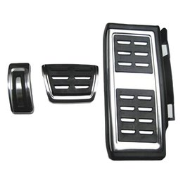 Wholesale Vw Car Seat Covers - Dewtreetali Car styling Sport Fuel Brake Dead Pedal Cover Set DSG For Seat Leon For Skoda Octavia VW golf 7 Auto Accessories