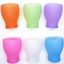 Freies verschiffen gläser porzellan online-Silikonweingläser unzerbrechliche stammlose Gummibierkrug-im Freienschalen-Trinkbecher Drinkware geben Verschiffen frei ZA5741