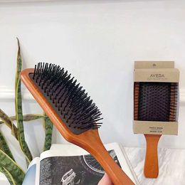 Wholesale Cushion Wood - Newest Natural Wooden Bamboo Needle Black Rubber Air Bag Massage Comb Heat-Resisting Anti-Static Comb Air Cushion Handle Brush DHL free ship