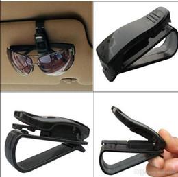 Wholesale Eyeglasses Holder Clip - Car Visor Glasses Sunglasses Ticket Clip Holder eyeglasses Reflector carrier hanger Bag Clips black for Auto car