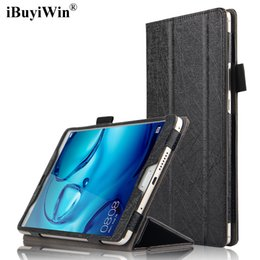 Wholesale Magnetic Films - iBuyiWin Slim Business Case for Huawei MediaPad M3 8.4 BTV-W09 BTV-DL09 Stand PU Leather Funda Magnetic Folding Smart Cover+Film