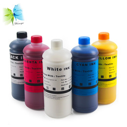 y c Coupons - 500ml !!!stable textile ink dtg ink for F2000 l800 1390 printer (WH BK C M Y+pretreatment liquid+cleaning liquid)