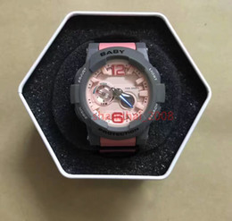 Wholesale G Shock Style Watches - AAA top quality New style shock waterproof women's watch baby G BGA-180 Sport watch World time With original box
