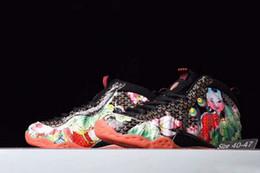 fiori anno Sconti Famoso Penny Hardaway Cina Tianjin pesce ogni anno patch fiore di loto Mens Designer Sport Sneakers schiuma One Shoes