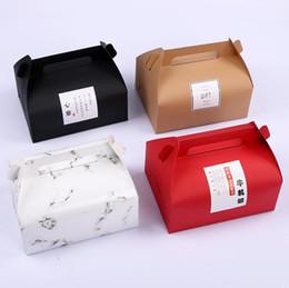 Крафт-бумага West Point выпечки торта коробки коробки портативный выпечки Торт Cookie контейнер с ручкой для хранения хлеба кухня SN1628 supplier container cake paper от Поставщики бумага для торта