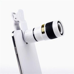 Wholesale cell phone telescope lens - Manual Operation Universal 12X Mobile Phone Telescope HD External Telephoto Lens Replacement Tele Lens Optical Zoom Cell Phone Camera Lens