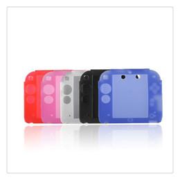 Caso para 2ds online-Funda de silicona para accesorios 2DS Funda protectora de gel para 2DS Funda de silicona de goma suave ultra fina