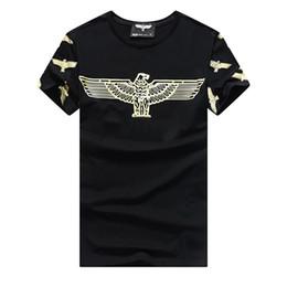 Faça porcelana on-line-2018 águia Falcão Imprimir Polo famosa marca t camisas jovem menino Moda camisas de t shirt homens feitos sob encomenda da luva de Algodão Icy porcelana Oyster