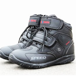 street gears Promo Codes - 3 colors Moto Motorcycle protective gear Boots Motocross Botas Motorboats Shoes Motorbike Racing Career Speed street boots