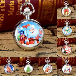 Wholesale Vintage Silver Pocket Watch Chain - 2017 New Arrival Christmas Pocket Watches 40cm Band Length Vintage Style Pocket Chain Necklace Watch Gift Watch reloj