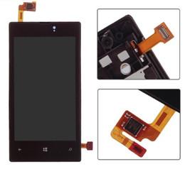 super schirm freies verschiffen Rabatt 100% test Touchscreen Glas Sensor Digitizer + LCD Display Monitorbaugruppe + Schwarzer Rahmen Für Nokia lumia 520