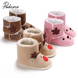 225e269871c Pudcoco 2018 Newborn Kids Baby Girls Snow Shoes Winter Cute 3D Elk Flock Soft  Sole Prewalker Crib Plush Warm Boots 0-18M