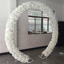 Wholesale Display Rows - New Arrival Wedding Arch Flower Row Artificial Rose Hydrangea Styles Backdrop Centerpieces Road Cited Flowers Rows for Party Decoration
