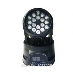 Wholesale led rgb moving head wash - (2pcs) 18x3w RGB LED mini Moving Head Light Moving Head Beam Wash Light Fast shipping