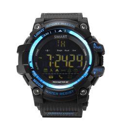 Relógio inteligente azul on-line-Mens relógio inteligente militar, Outdoor impermeável Bluetooth Sport Smart Watch com Android e IOS Smartphones (azul)