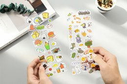 Kawaii telefonaufkleber online-2 stücke Kawaii frühstück aufkleber Planer Journal DIY Scrapbook Tagebuch Telefon Dekoration Notebook Ablums Dekorative