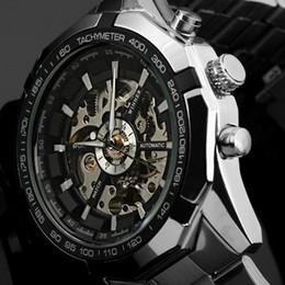 2019 мужчины Winner Top  Watch Men Sport Watches Mens Casual Steel Clock Automatic Mechanical Wristwatch Skeleton Watches Box дешево мужчины