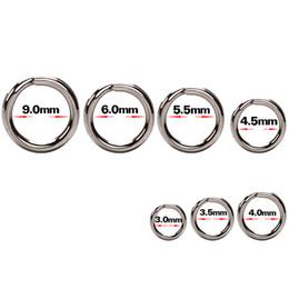 Стальные сплит-кольца онлайн-100 шт. / Лот из нержавеющей стали сплит кольца высокого качества укрепить твердое кольцо приманки соединительное кольцо рыболовные принадлежности