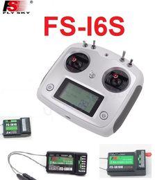 2019 rc car fernbedienung empfänger Flysky FS-i6S Fernbedienung 10CH 2.4G mit Touchscreen + FS iA6B iA10 FS-iA10B Empfänger für RC Autos Boote Drone Spielzeug günstig rc car fernbedienung empfänger