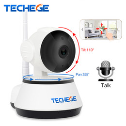 Wholesale Wired Network Ip Camera - Techege 1080P HD IP Camera Wireless Wifi Wired 2MP Video Surveillance Night Vision Home Security Camera Network Indoor Yoosee