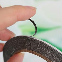 ruban d'étanchéité en caoutchouc Promotion Vente en gros-2mmX 10m ruban adhésif double face en mousse noire pour écran de réparation de téléphone cellulaire étanche à la poussière de carte PCB 0.3mm d'épaisseur
